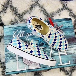 Vans Checkerboard Blue Topaz classic slip-on